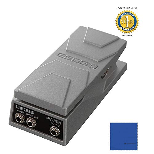 Boss FV-30H Foot Volume Compact High-impedance Volume/Expression Pedal with 1 Year Free Extended Warranty (Boss Fv 500h Volume Pedal High Impedance)