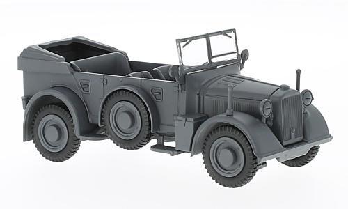 Horch 901, matt-dark grey, 1937, Model Car, Ready-made, WhiteBox - Grey Dark Matt