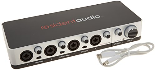 Resident Audio T4 Thunderbolt Audio Interface (Best Bus Powered Audio Interface)