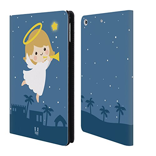 Ang Head (Head Case Designs Angel Jolly Christmas Toons Leather Book Wallet Case Cover For Apple iPad mini 4)