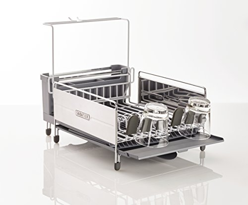 Sabatier 5211333 Expandable Stainless Steel Dish Rack with R