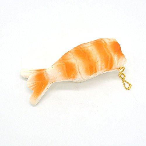 [Squishy Slow Rising Sushi Toy Key Chain Relief Doll Strap 13CM Cute Yummy Shrimp] (Baby Shrimp Sushi Costume)