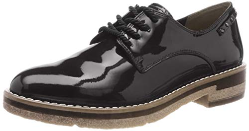 23304 Black 21 Tamaris Oxfords 18 Women's black Patent 47xqa1A
