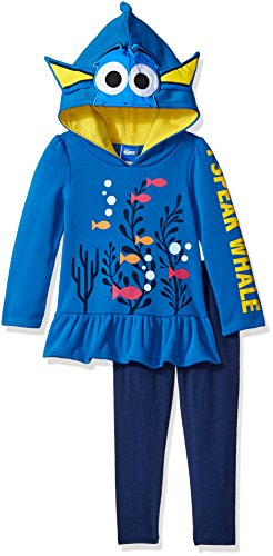 Disney Girls 2 Piece Finding Dory Costume Hoodie and Legging Set