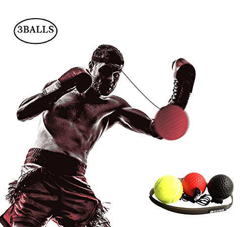 Keya Boxing Reflex Ball 3 Training Speed Level Boxing Ball with Headband,Perfect for Reaction, Agility, Punching Speed, Fight Skill and Hand Eye Coordination Training