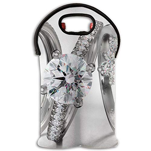 YYH Wine Tote Carrier Bag Platinum Diamond Rings Purse for Champagne,Water Bottles