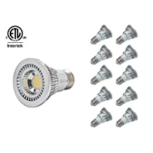 LED PAR20 POT LIGHT COB DIMMABLE, 6000K Cool White OR 4000K Natural White OR 3000K Warm White, 7W, 520LM, 60 degree beam angle, cETLus Certificated, 10 packs in one box, CAN Lighting Inc (Natural White 4000K)