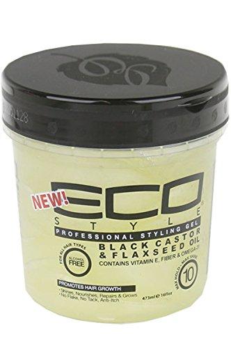 eco-style-black-castor-flaxseed-oil-gel-16-ounce