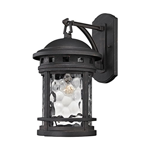 Costa Mesa 1 Light Outdoor Wall Lantern In Weathered Finish Wall - Costa Mesa Stores