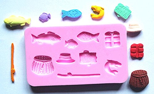 Pinkie-Tm-Fishing-Tackle-Fishes-Fondant-Cake-Silicone-Mold-Chocolate-Clay-Resin-Mould-Sugarcraft-Cake-Decorating-Tools
