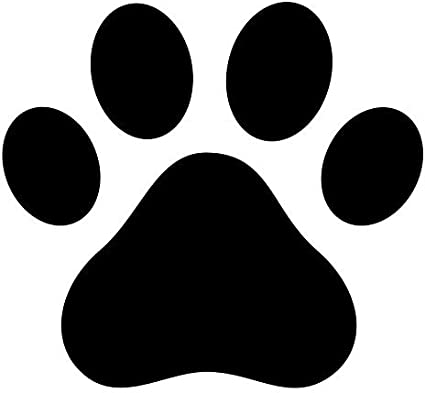 Amazon Com Pack Of 3 Dog Paw Dog Print Stencils 16x20 11x14 And 8x10 Made From 4 Ply Matboard