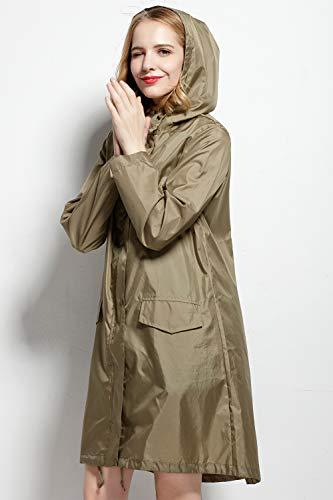Libre Gabardina Olivia Aire Yacun Lluvia Poncho La Mujer Al Con Abrigo Capucha Impermeable De 6EgqUOzEw