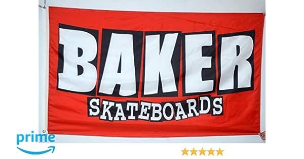 Baker Skateboards Flag Banner 3x5 ft Garage Skate Wall