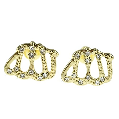Allah-Iced-out-Gold-Tone-Arab-Islamic-Koran-God-Islam-Muslim-Mens-Hip-Hop-Earrings