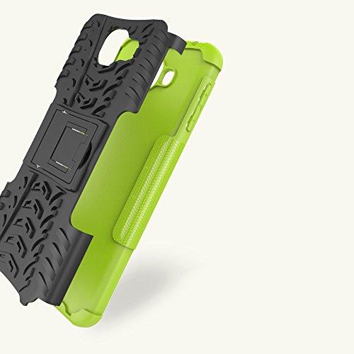 XHD-Casos de teléfonos móviles Desmontable [Kickstand] 2 en 1 resistente a prueba de golpes cubierta de la caja para Samsung Galaxy A8 2016 ( Color : Red ) Purple
