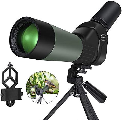 Kalawen 20-60×60 HD Spotting Scope with Tripod, Optics Zoom 57-120Ft 1000Yds BAK4 Angled Spotting Scope for Target Shooting, Hunting, Bird Watching, Wildlife Scenery