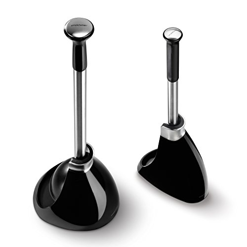 simplehuman toilet brush and toilet plunger set black by simplehuman