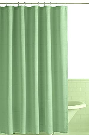 PCJ Supplies Durable Plain Green Shower Curtain 178 CM X With Hooks Amazoncouk Garden Outdoors