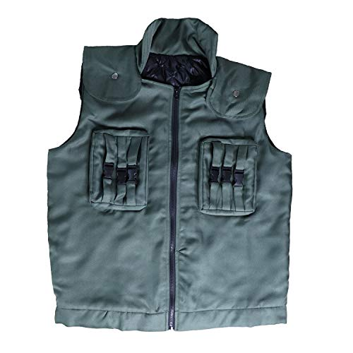 (Xfang Men's Cosplay Costume High Density Cotton Vest (M) Green)