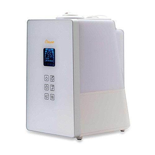 Crane Warm and Cool Mist Digital Ultrasonic Humidifier with Ionizer