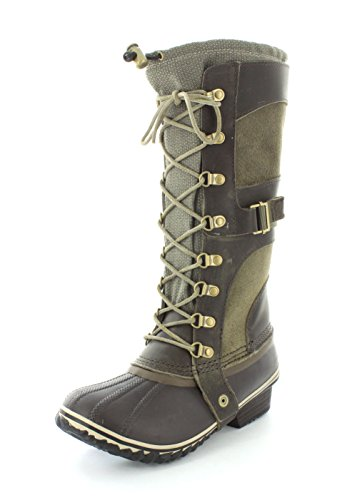 Sorel Kvinners Erobring Carly Boots Camo Brun / Stein