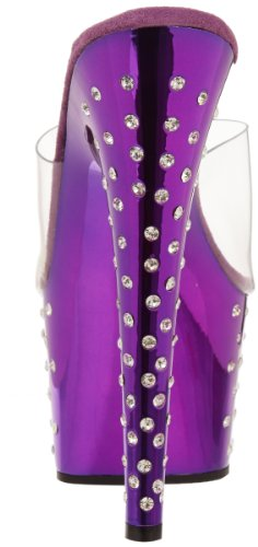 De Mujer Chrome Pleaser Sandalias purple Clr 701 Stardust Cuña CC6qgt