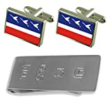 Guaratingueta City Sao Paulo State Flag Cufflinks & James Bond Money Clip