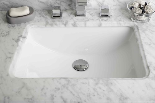 American Imaginations 20.75-in. W x 14.35-in. D Rectangle Undermount Sink In White Color by IMG Imports by IMG Imports