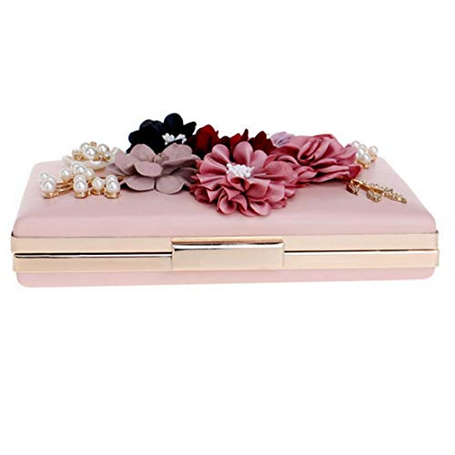 De Boda Embragues Pink Monedero Mujeres Ex Flor Embrague Cvthfyk color Pink La Bolsos Noche BTqggp