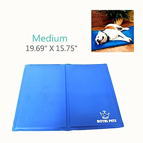 WHOMEC Pet Cooling Mat - Cools and Soothes - Helps Prevent Over Heating and Dehydration (Medium) - Cars Cooling and Heating