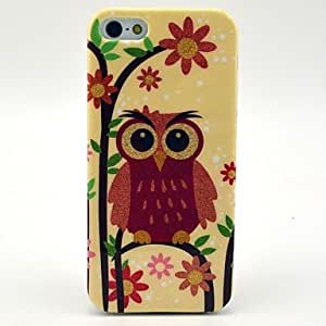 GJY Heavy Eyebrows Owl Pattern Soft Case for iPhone 5/5S
