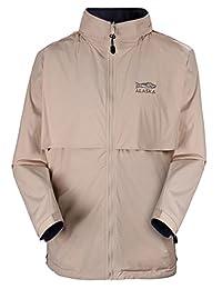 Zity Men's Reversible Zip Front Waterproof Hooded Jacket