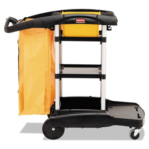 Rubbermaid 9T7200BK High Capacity Cleaning Cart, 21-3/4w x 49-3/4d x 38-3/8h, Black