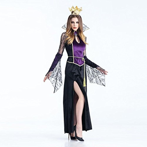 DKmagic Fashion Halloween Dress, Adult Womens Sexy Vampire Witch Dress Cosplay Party Costume (L, (Evening Vampire Costumes)