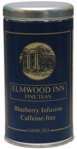 Elmwood Inn Fine Teas - Blueberry Infusion Caffeine-Free Tea - Loose Leaf 4 Ounce Tin by Elmwood Inn Fine Teas