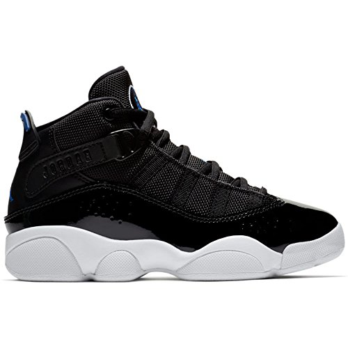 NIKE Jordan 6 Rings BP Boys Fashion-Sneakers 323432-016_2Y - Black/Hyper Royal-White by NIKE