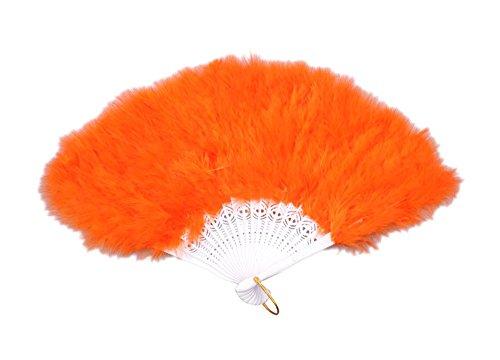 Charm.L Grace 20s Vintage Feather Fan Flapper Dance Roaring Gatsby Burlesque