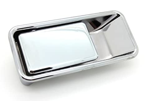 LatchWell PRO 4001002 Driver Side Exterior Half Door Handle In Chrome For  Jeep Wrangler