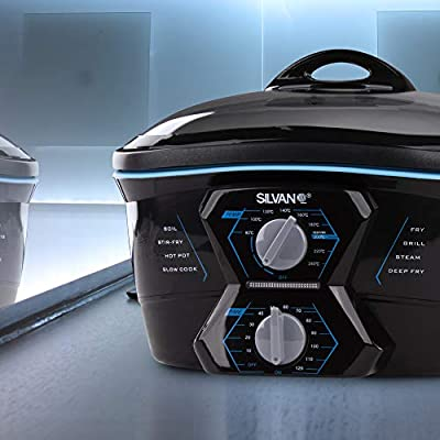 Robot de cocina multifuncion 8 en 1 freidora horno plancha parrilla 5L 1500W: Amazon.es: Hogar