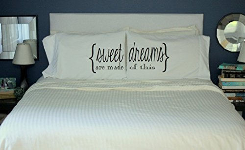 Oh, Susannah Sweet Dreams Are Made Of This Pillowcases Couples Pillow Case Set (2 Queen/Standard Size Pillowcases) His and Hers gifts For Him Valentines Gift Guest (Love Double Bronzer)