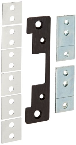 HES Stainless Steel 501A Faceplate for 5000 Series Electric Strikes for Aluminum Frames Includes Universal Mounting Tabs, Bronze Toned Finish (Stainless Strike Keeper Electric)
