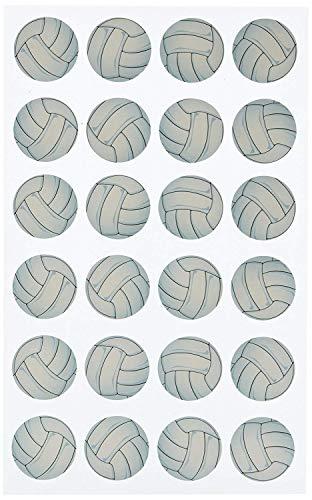 Darice, Stickerz, 24Piece, Volleyball Stickers (Limited Edition)
