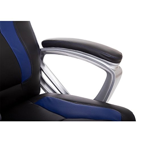 HomCom Race Car Style PU Leather Heated Massaging Office Chair - Blue by HOMCOM (Image #6)