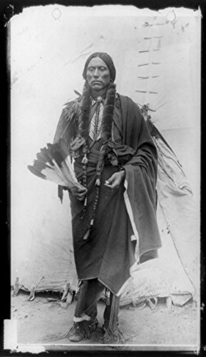 1909 Photo Quanah Parker, Comanche Indian Chief, full-length for sale  Delivered anywhere in USA