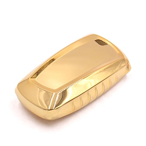 uxcell Gold Tone Remote Key Case Holder Shell Protect Cover Fit For 2013 BMW by uxcell