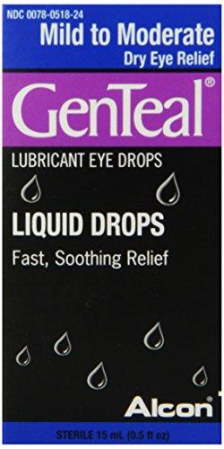 Gouttes Alcon Genteal doux yeux / modérée, 15 ml, 0,5 once