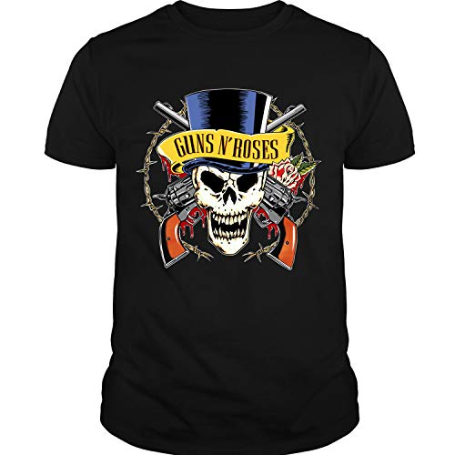 - Guns N' Roses Skull Logo T Shirt Unisex (B,Forest)