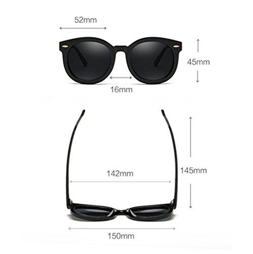 Clásico UV400 Protección de de Plata polarizado Moda Pink Retro Gafas Color Elegante Hembra 52mm Wayfarer La sol F0twpxqA