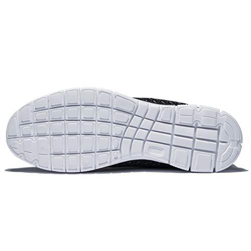 KENSBUY Men's Walking Sneakers Lightweight Mesh Lace Up Shoes(Black EU41) by KENSBUY (Image #6)