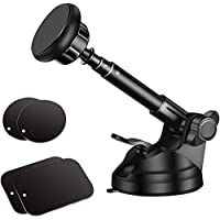 Magnetische telefoonhouder met 6 sterke magneten voor dashboard en voorruit, telescooparm van metaal, compatibel met…
